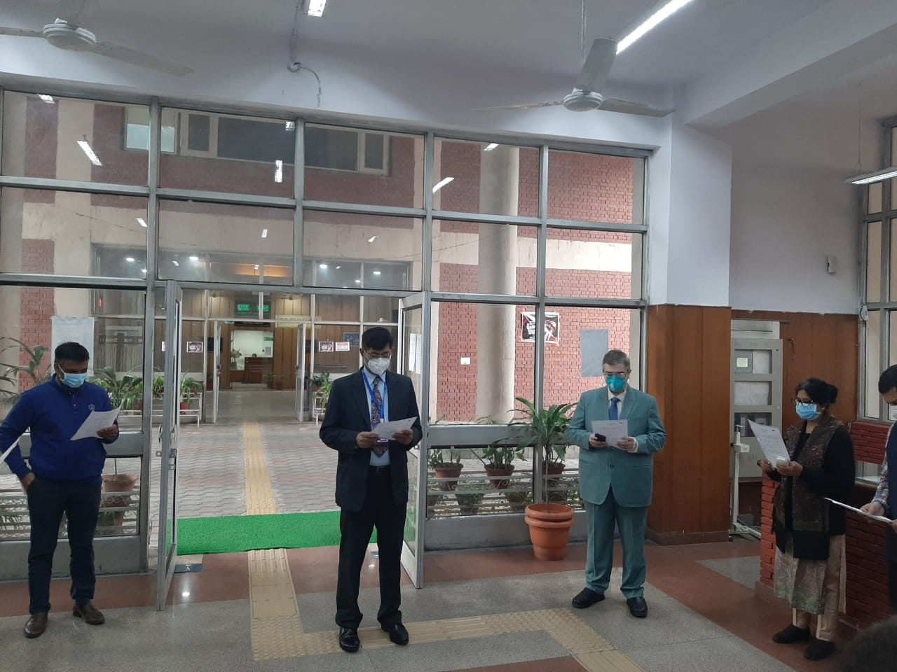 Celebration of Constitution  Day on 26.11.2020 at CGST Zone Chandigarh